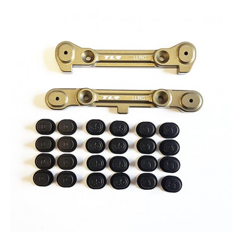TLR344010- LLRC Adj Rear Hinge Pin Brace Set: 8IGHT 8T 4.0