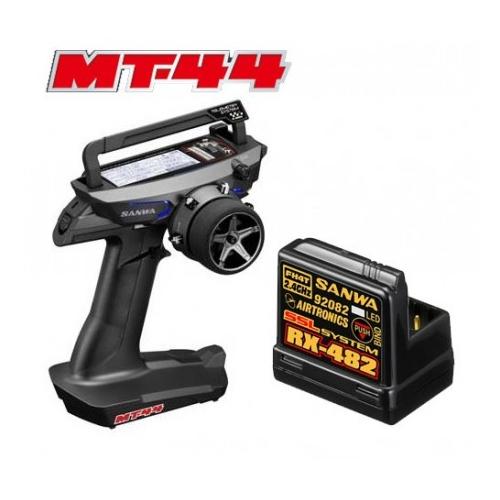Sanwa RADIO CAR MT-44 + RX-482 2.4G 4CH TELEMETRIA